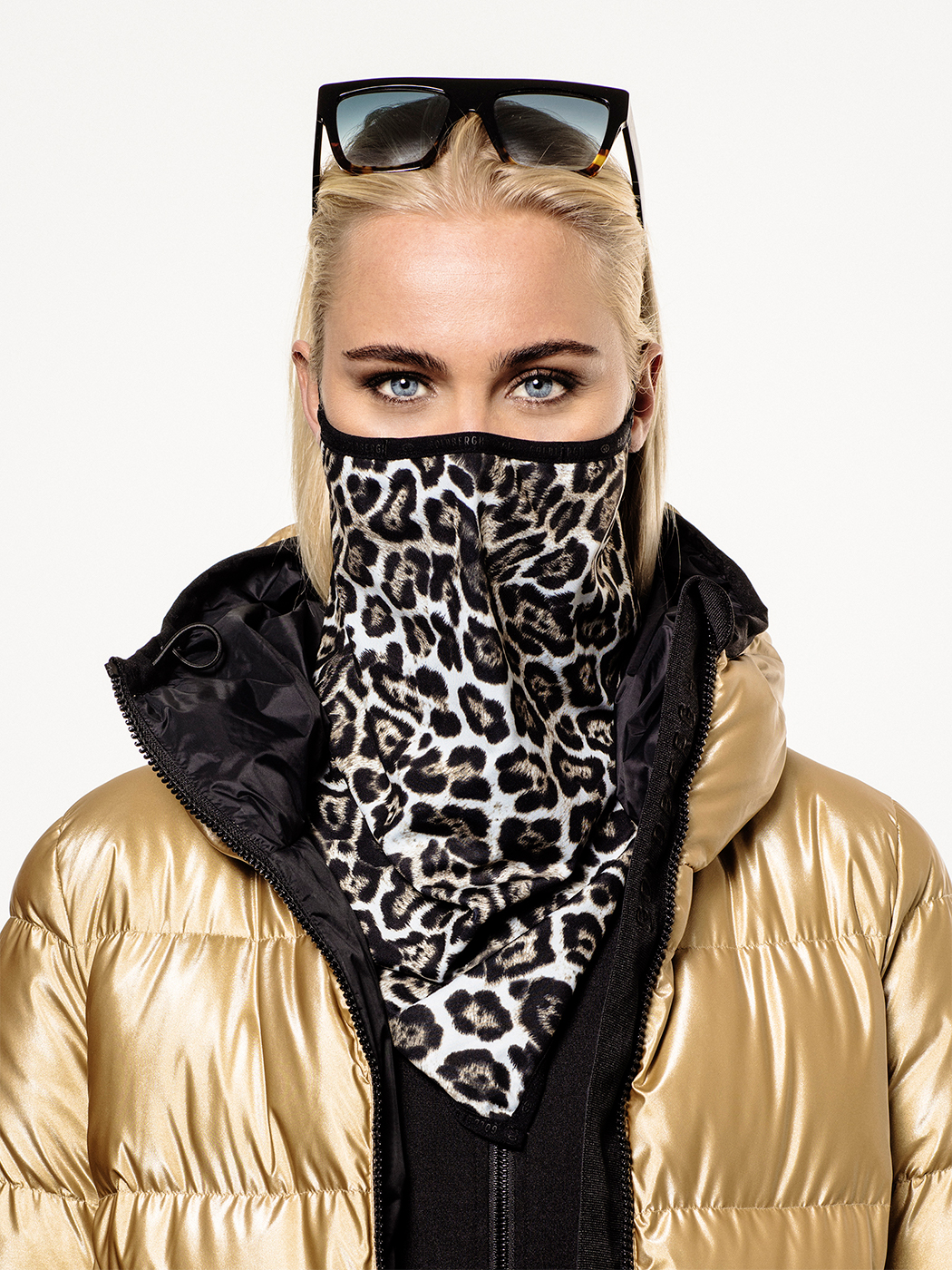 Marf face mask by Goldbergh in leopard print