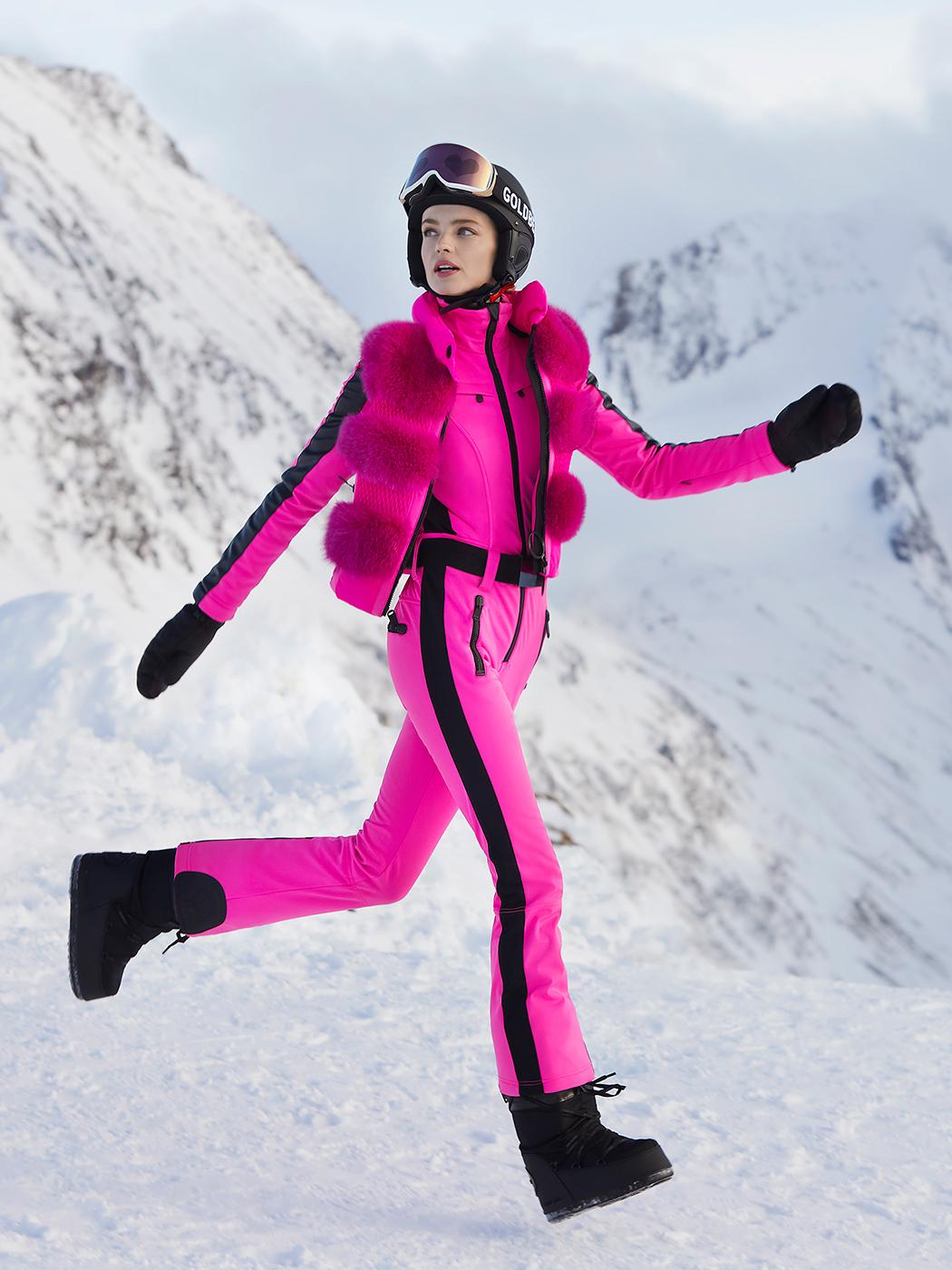 Purple designer ski jacket from Sportalm Kitzbuhel at Winternational