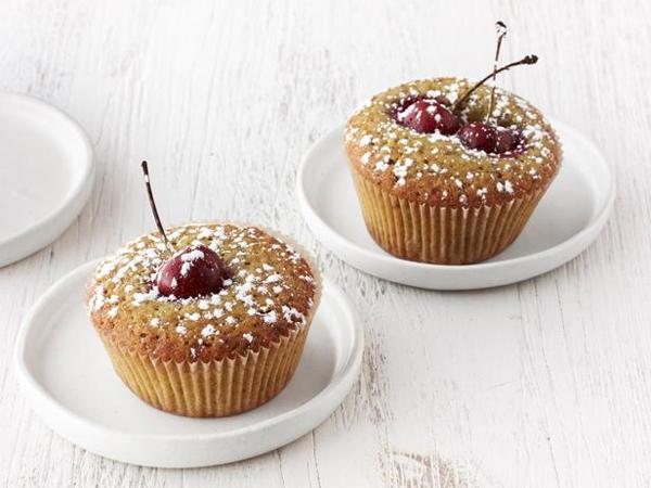 Cherry-Pistachio Tea Cakes