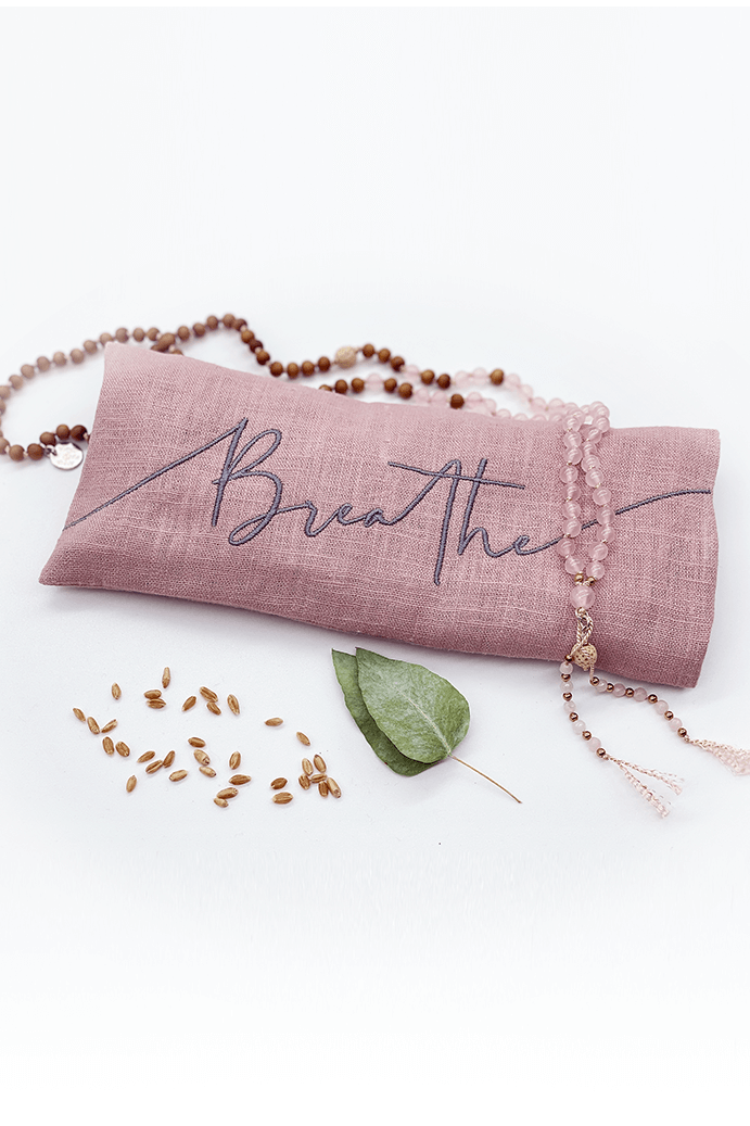 Breathe Embroidered Lavender Eye Pillow