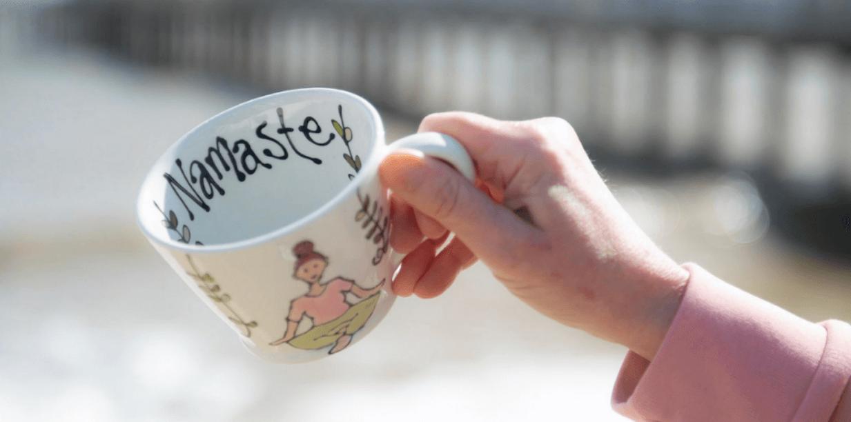 Namaste Mug Available at YogaClicks