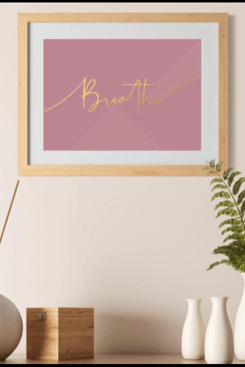 Typographic Yoga Prints