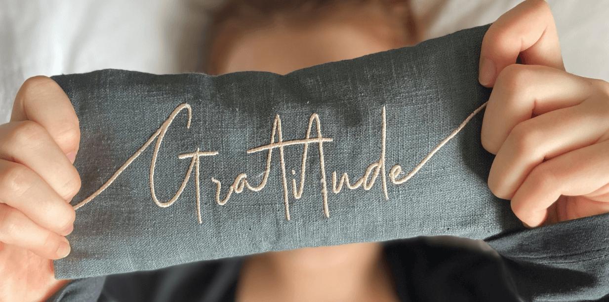 Gratitude Lavender Eye Pillow