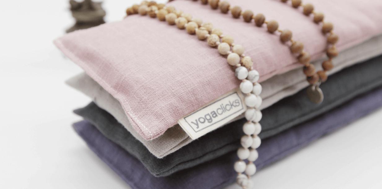 Plain linen and lavender eye pillows